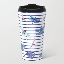Dragonfly stripes Travel Mug