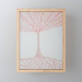 Arbre Cosmique - Cosmic tree Framed Mini Art Print