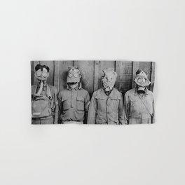 American, British, French, & German Gas Masks Hand & Bath Towel