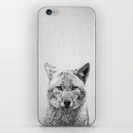 Coyote - Black & White iPhone Skin