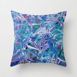 Neon Swipes Throw Pillow