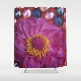 MARBLED FLOWER Shower Curtain