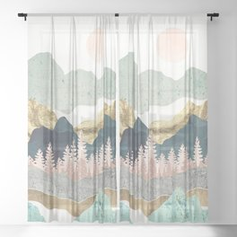 Summer Vista Sheer Curtain