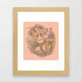 Groot Fan Art Framed Art Print