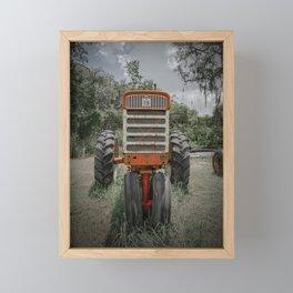 IH Farmall Red Tractor Front View 560 Rusty  Framed Mini Art Print