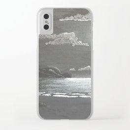 Quiet Night Clear iPhone Case