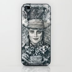 Mad Hatter - Johnny Depp Traditional Portrait Print iPhone & iPod Skin