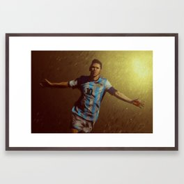 World Cup 2014 Series: Messi Framed Art Print