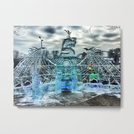 Ice Dragon Throne at Icestravaganza, 2017 Metal Print