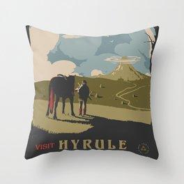 Visit Hyrule Throw Pillow