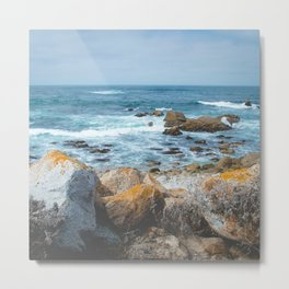 The Restless Sea II | Nature Landscape Photography of the Californian Coast's Blue Waves Metal Print