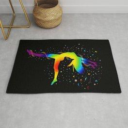Dancing Woman Chakras - 04 Black BG Rug
