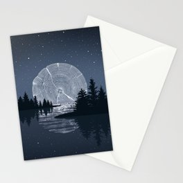 Moon Rise over the Lake Stationery Cards