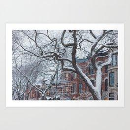 Chicago Winter Wonderland Art Print