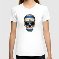 israel T-shirts featuring Dark Skull with Flag of Israel by Jeff Bartels