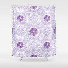 Delphinium Lace Shower Curtain
