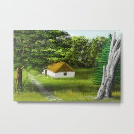 Hause in Forest 1 Metal Print
