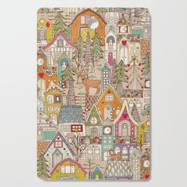 vintage gingerbread town Cutting Board