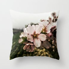 Flor de Almendro Throw Pillow