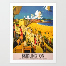 retro iconic Bridlington poster Art Print