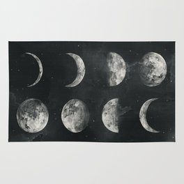 Watercolor moon phases Rug