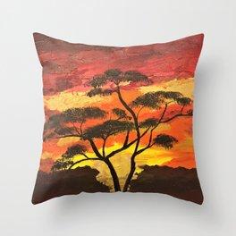Goodnight Africa Throw Pillow