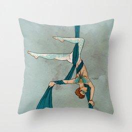 Silks Throw Pillow