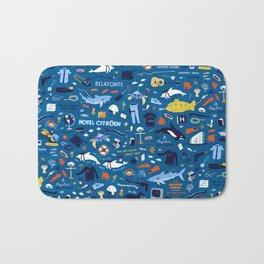 Life Aquatic Plot Pattern Bath Mat