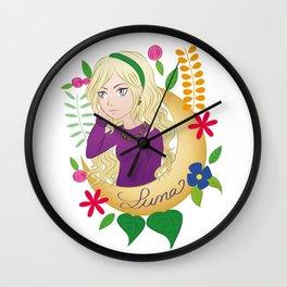 Luna Ornament Wall Clock