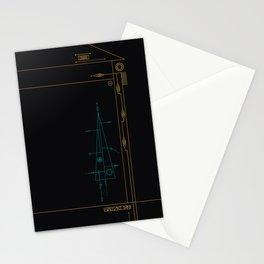 trigonal on black. Stationery Cards