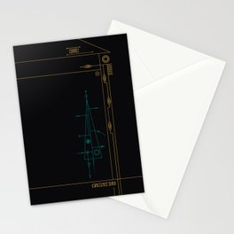 trigonal on black. Stationery Cards