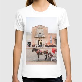 Horse Carriage in Downtown Merida, Mexico T-shirt