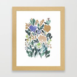 hand painted flowers_2b Framed Art Print