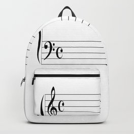 Blank Music Stave Backpack