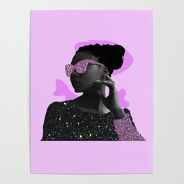 Rock Star Glitter Collage Poster