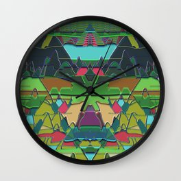 digiscape mountains Wall Clock