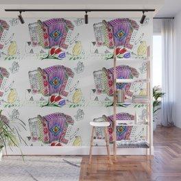 Decorative accordion Wall Mural