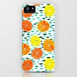 Citrus Lily (white) iPhone Case