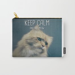 Cat - Keep calm and say meow Carry-All Pouch
