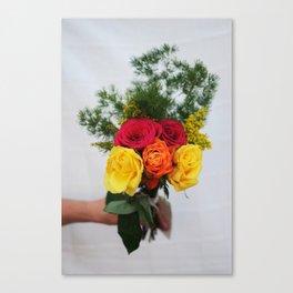 handful of flowers Canvas Print