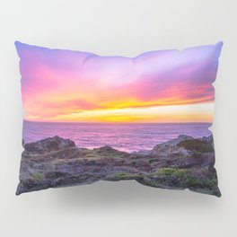 California Dreaming - Brilliant Sunset in Big Sur Pillow Sham