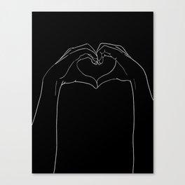 cœur Canvas Print