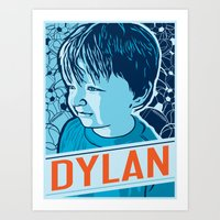 dylan Art Prints featuring Dylan by Adam Shortlidge