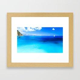The beach of Chia su Giudeu, Sardinia Framed Art Print