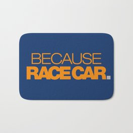 BECAUSE RACE CAR v3 HQvector Bath Mat