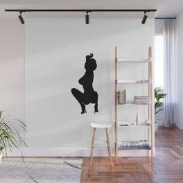 Professional Dancer Drop in Black Wall Mural