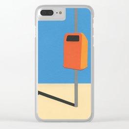 Orange Trash Can Clear iPhone Case