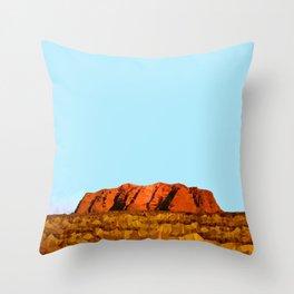 uluru polygon Throw Pillow
