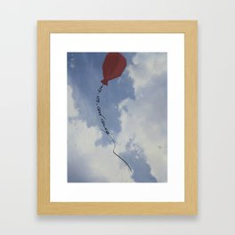Up, Up, and Away Framed Art Print