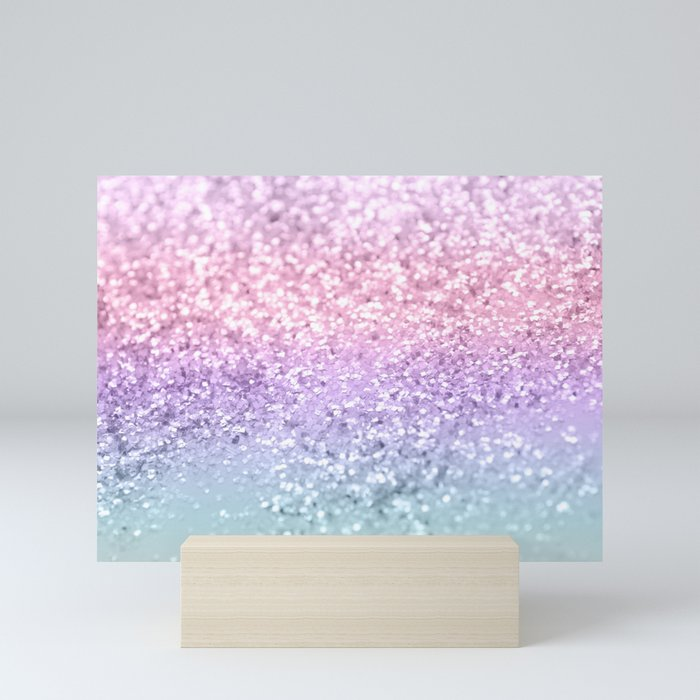 Unicorn Girls Glitter #1 #shiny #pastel #decor #art #society6 Mini Art Print